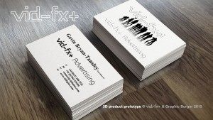 Thermographic ink Sample- business cards