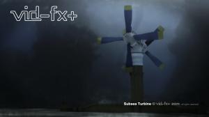 3D-CGI Subsea turbine.