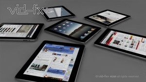 3D-CGI Image iPads - Mobile Maketing