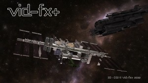 3D-CGI Space Station